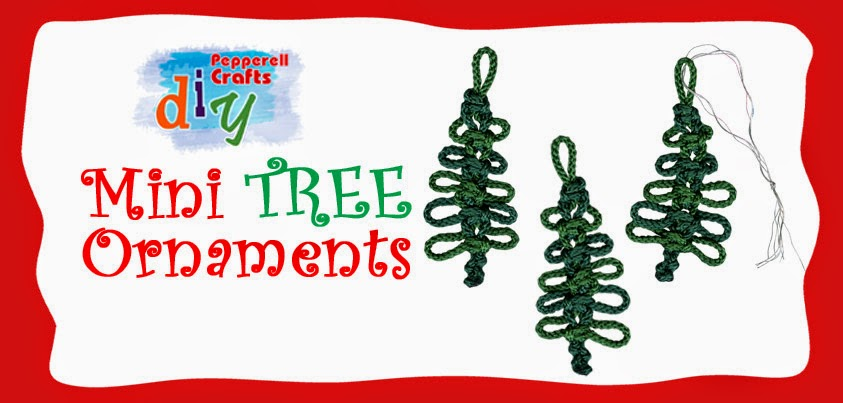 Christmas Tree Ornament Tutorial from Pepperell Crafts