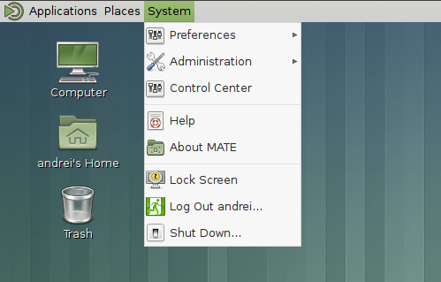 mate1.8 system menu