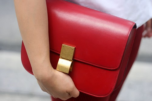 trend alert - red bags, celine box bag