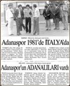 Adanasporlu futbolcular İtalya'da.