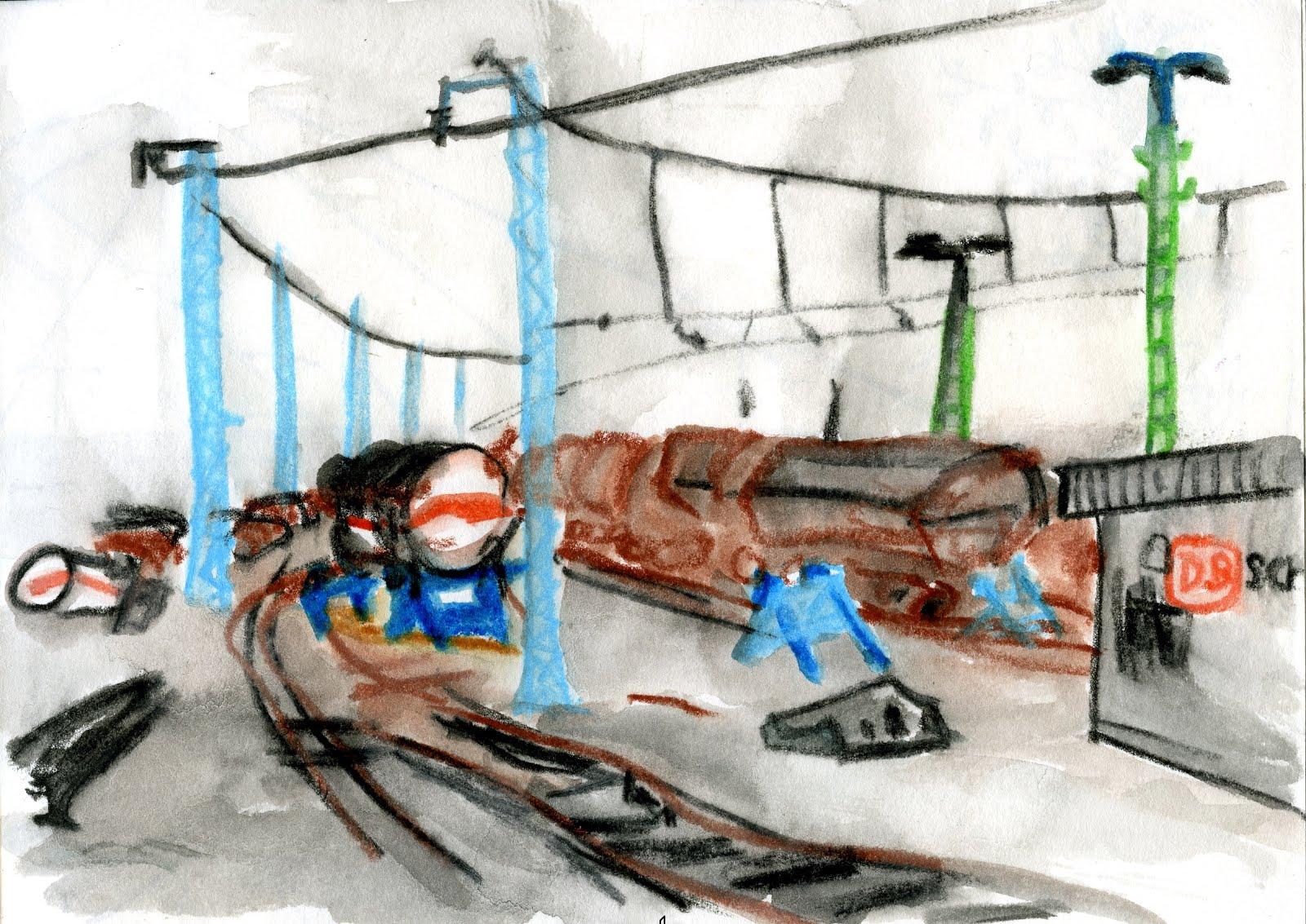 Skizze am Güterbahnhof