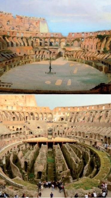 ricostruzione arena colosseo franceschini manacorda roma