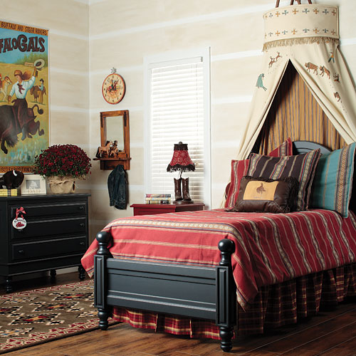 Roses and rust bedrooms for boys - Boys room decor ...