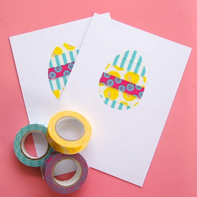 omiyage blogs washi tape easter egg card