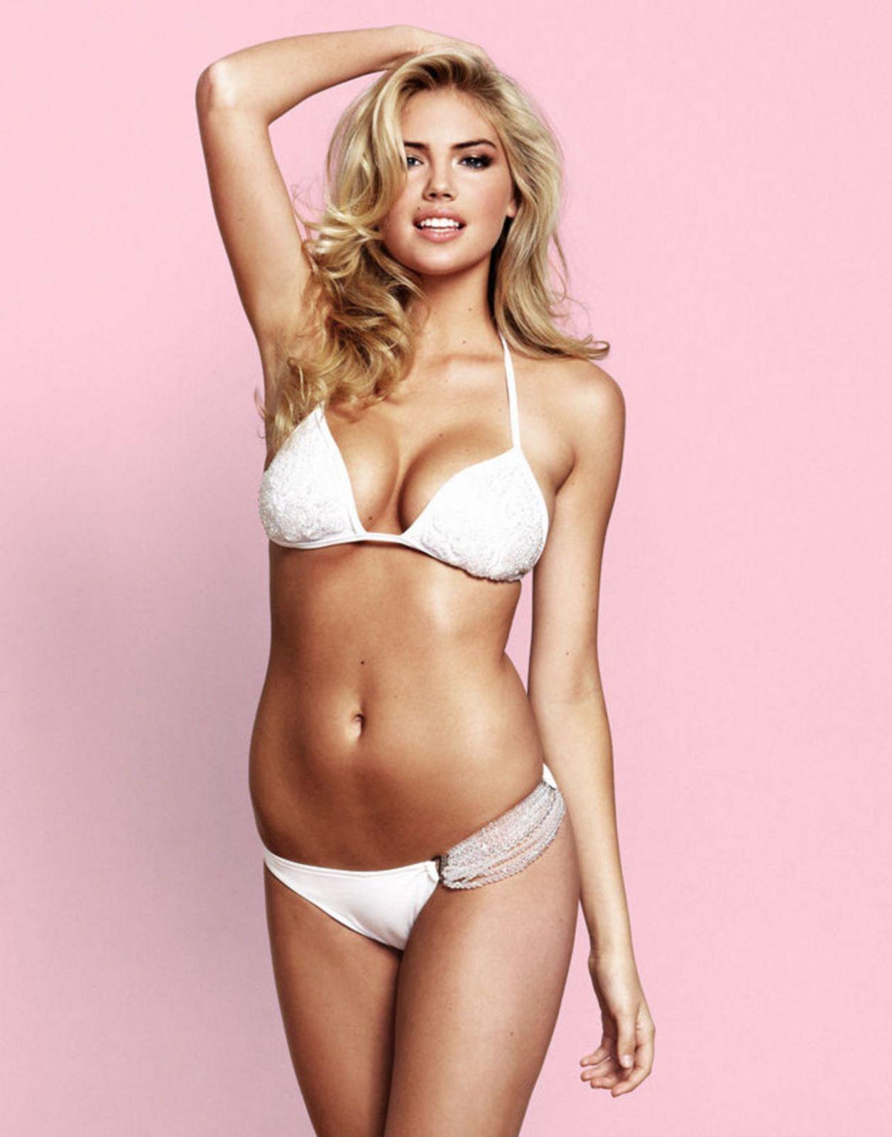 World Celebrity Image: American Model Kate Upton White