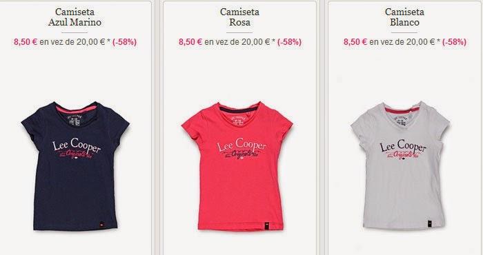 Tres modelos de camisetas para niñas de Lee Cooper