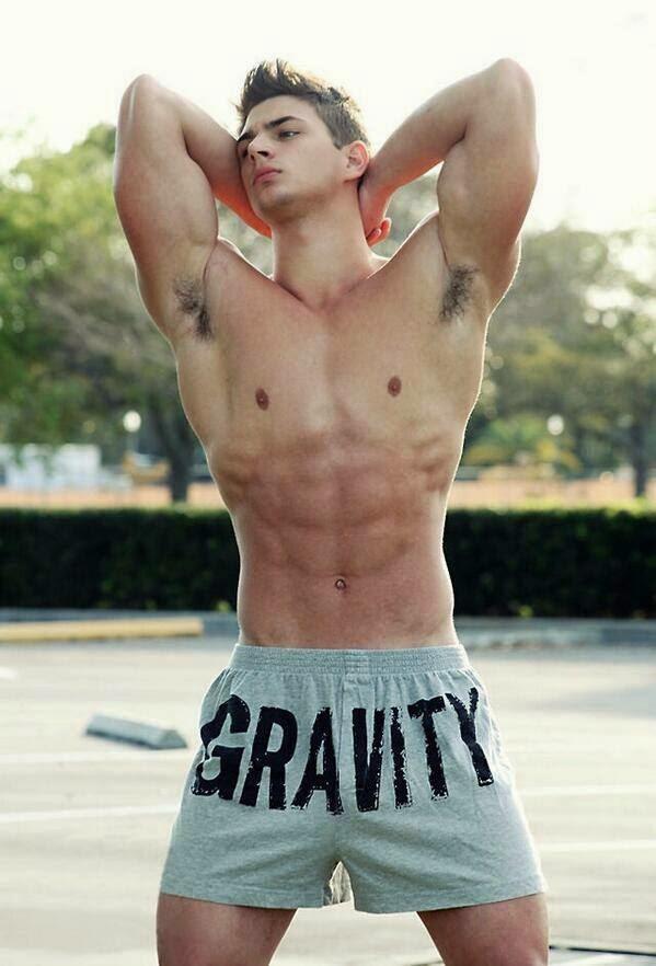 Fit Man's Hairy Armpits