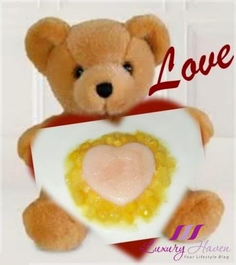valentines day teddy bear sorbet dessert