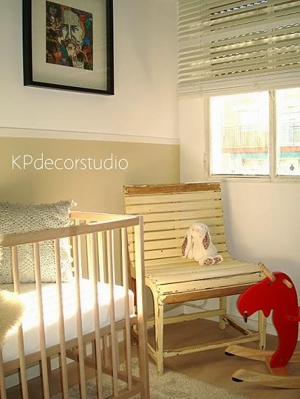 Cuartos de niños. Decorar habitación de niño. Objetos y sillas para niños estilo rústico