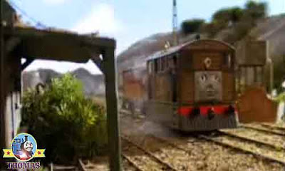 The Fat Controller impressed vintage quarry mine Toby the tram engine rather scared the spooky mine