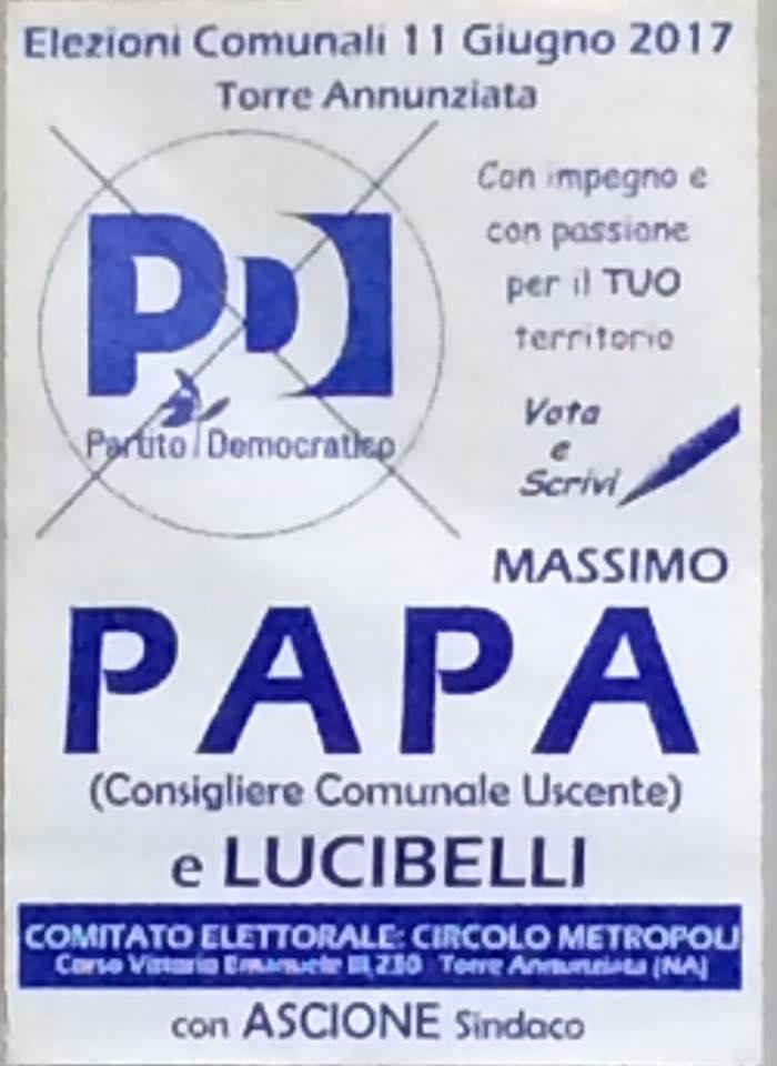 11 GIUGNO-VOTA PAPA E  LUCIBELLI-IMPEGNO E PASSIONE