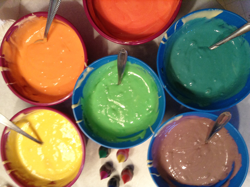 colorful cake mix