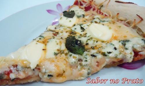 Uma pizza muito prática de fazer e deliciosa!