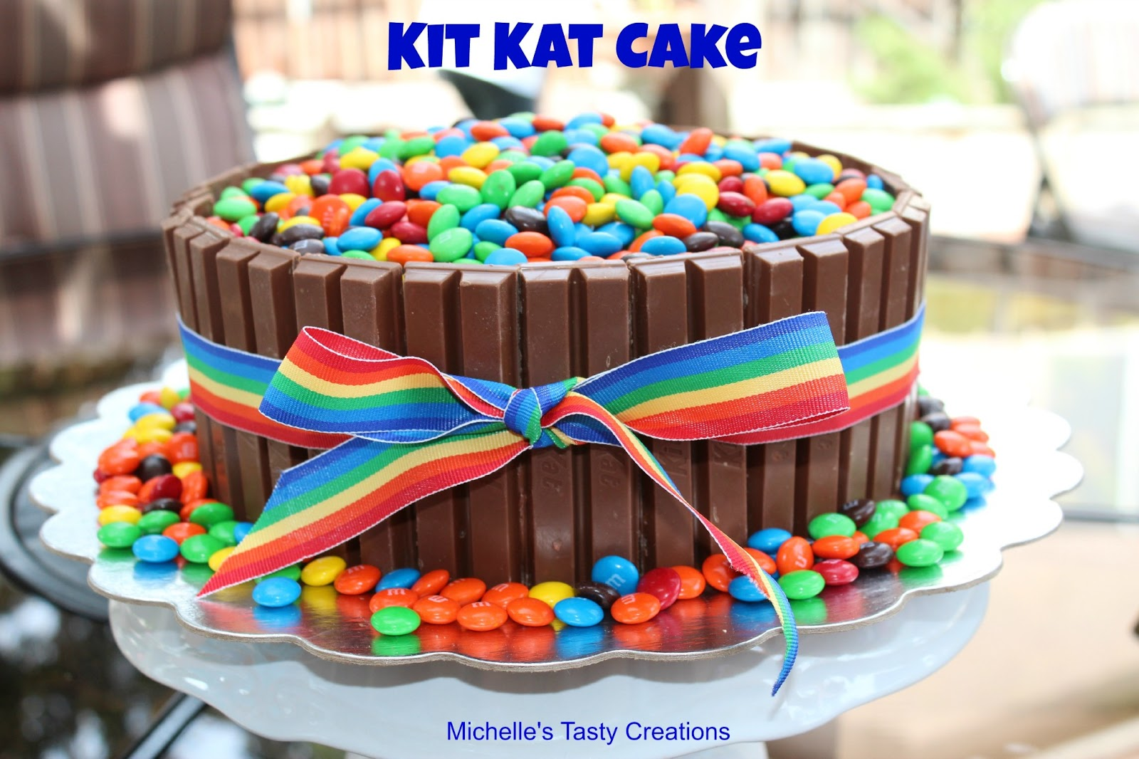 Kit Kat Rainbow Ice Cream Cake