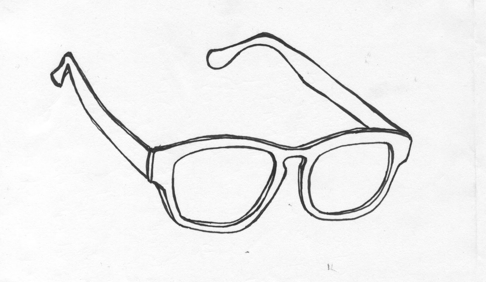 Glasses Frame Outline : Free coloring pages of sunglasses template