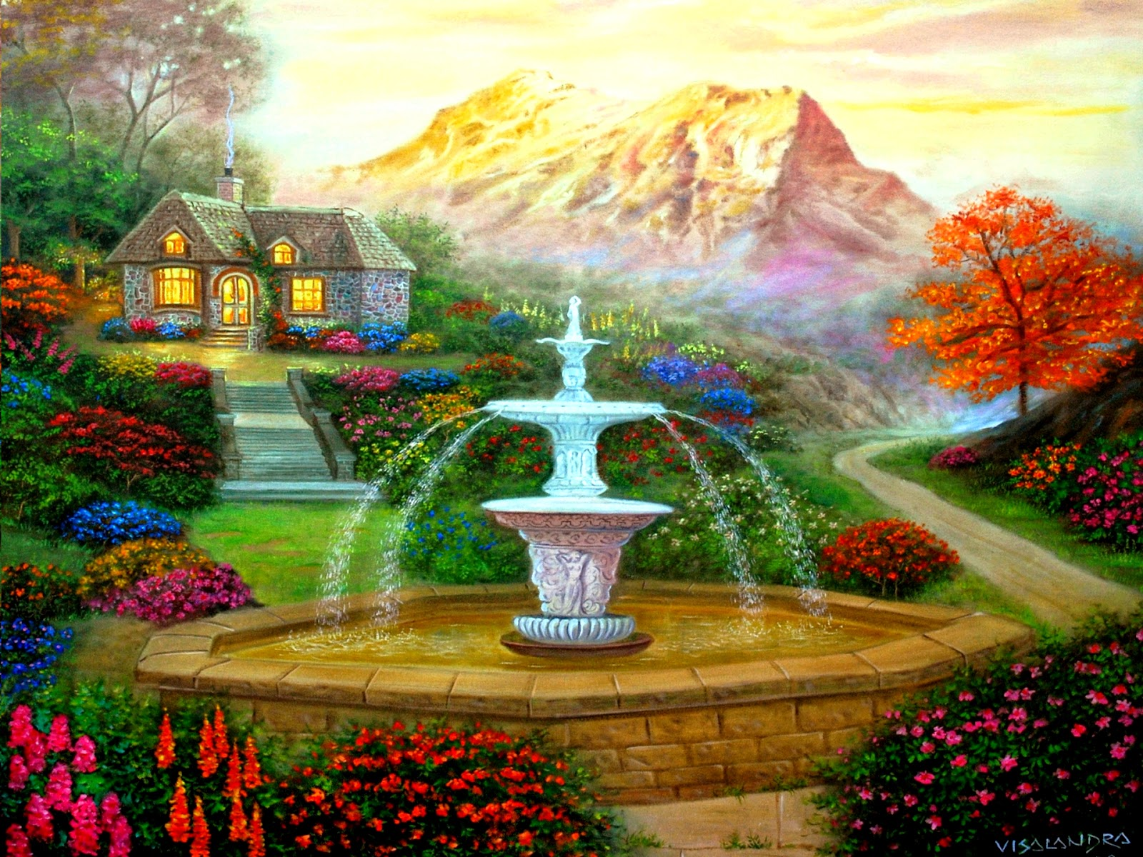 Colorful garden new hd wallpapers wallpapers for Beautiful garden images hd