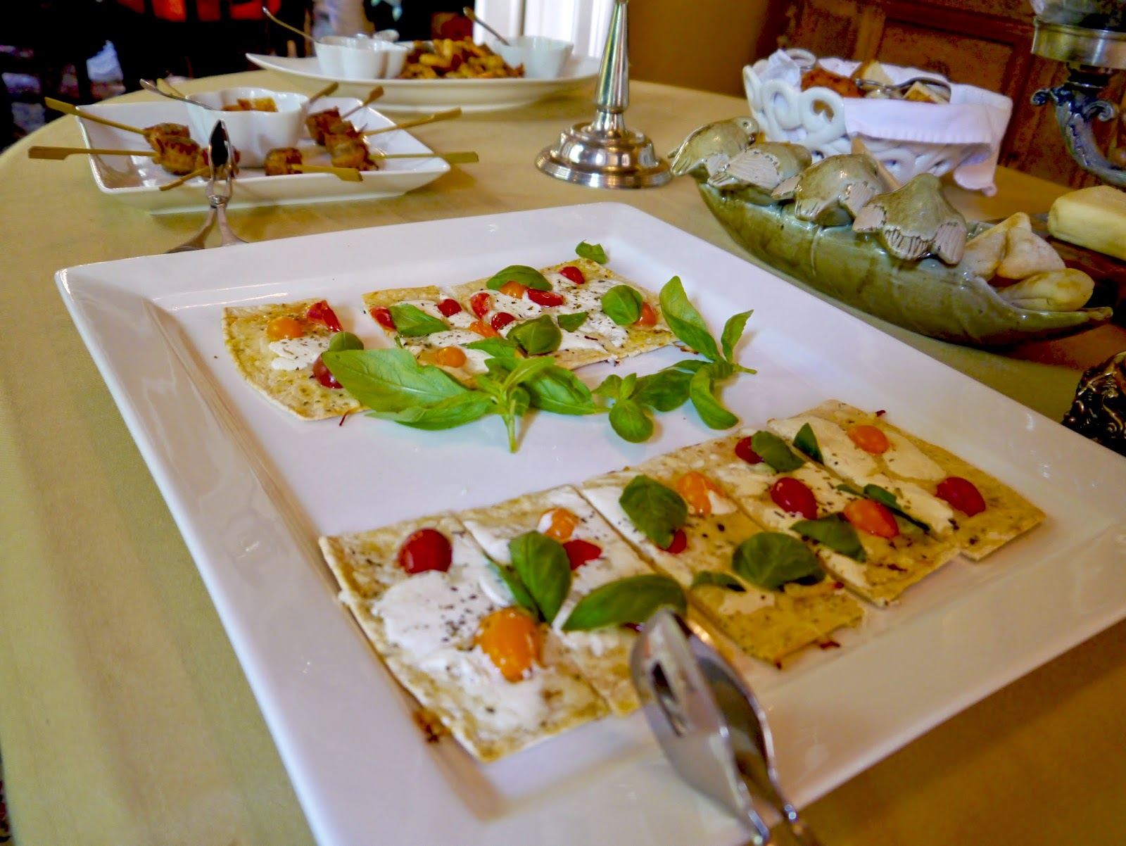 Fresh appetizers at historic Savannah inn -- Zeigler House Inn