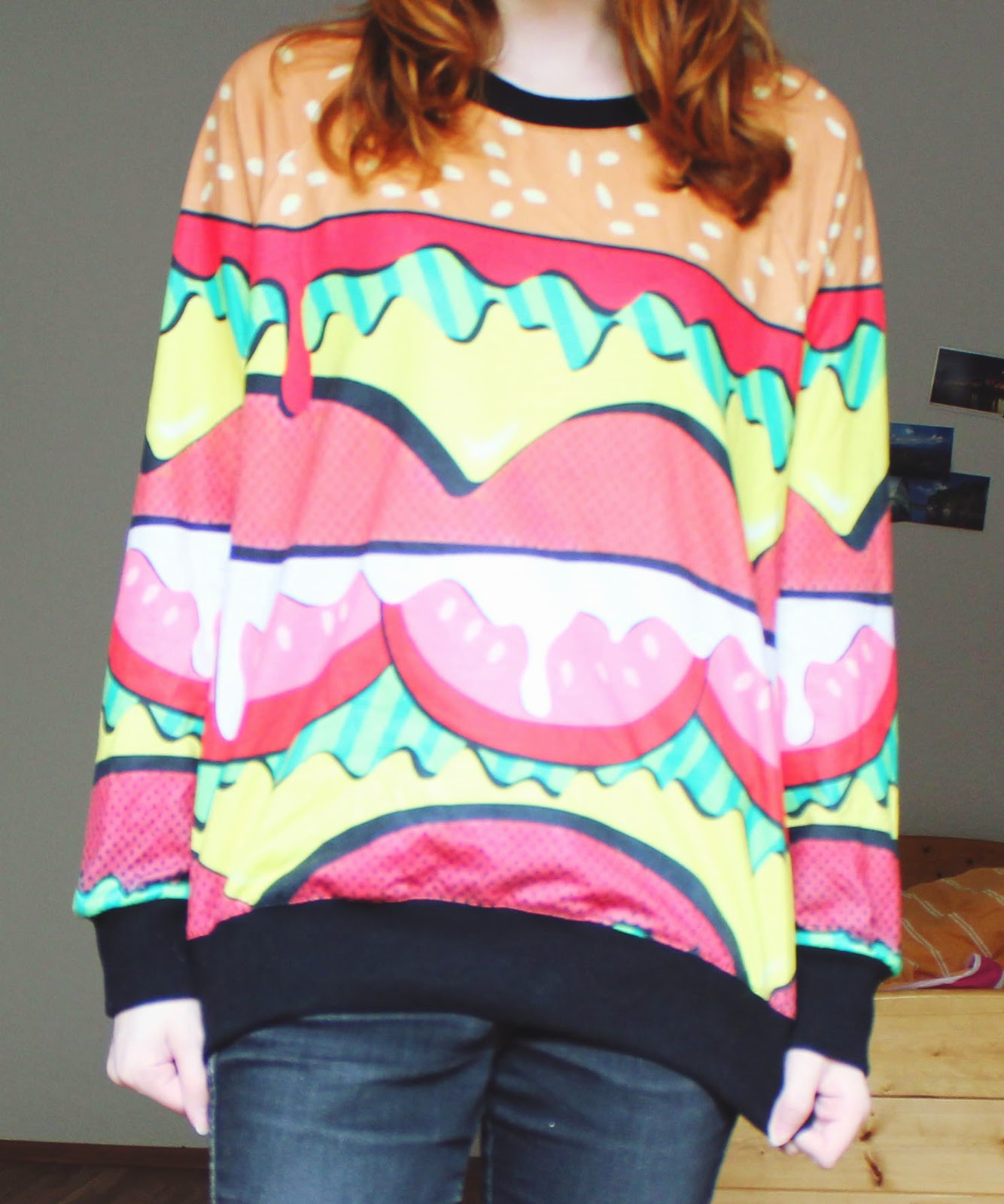Hamburger Sweater Harajuku Taobao
