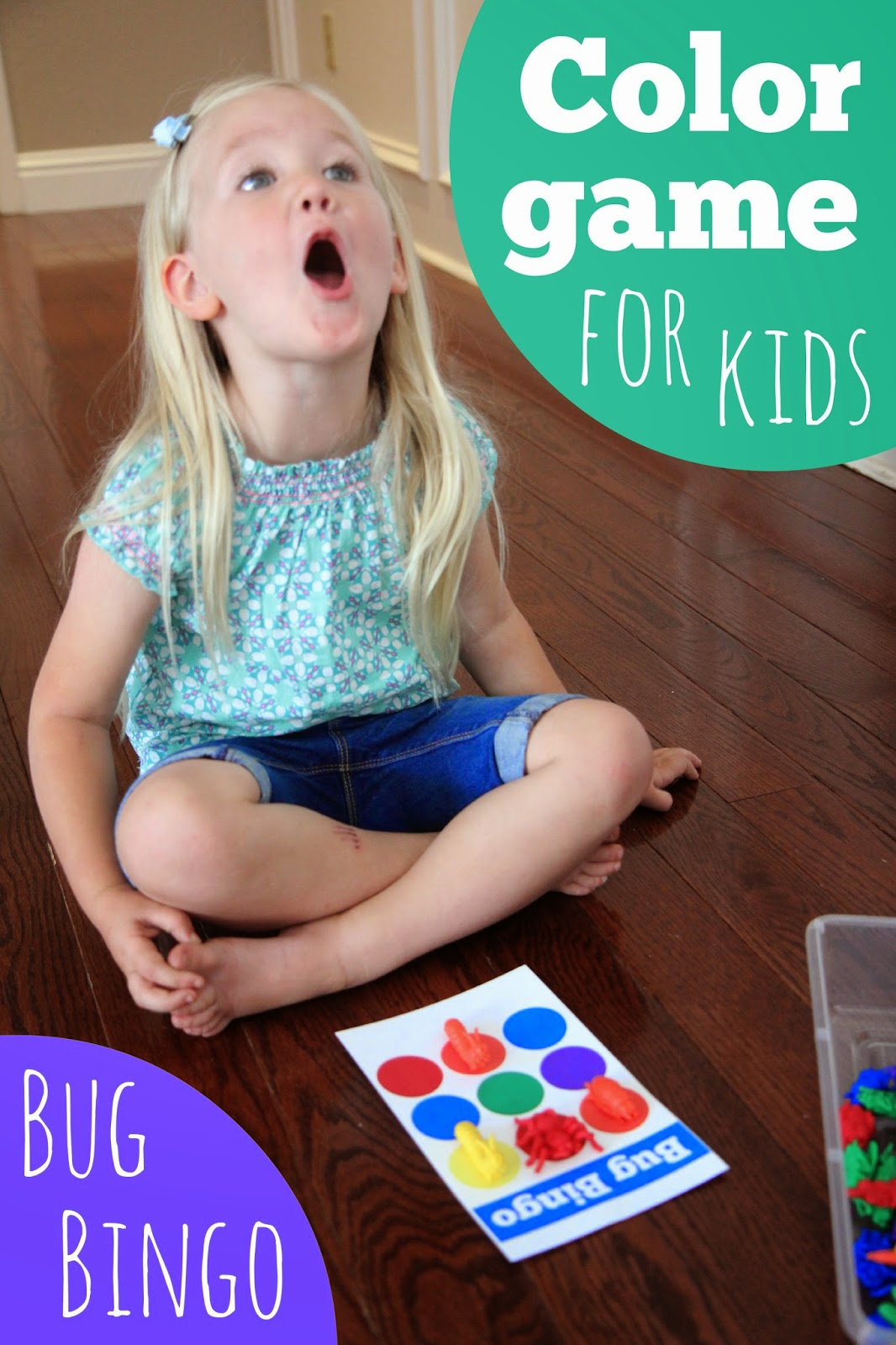 toddler approved color game for kids bug bingo