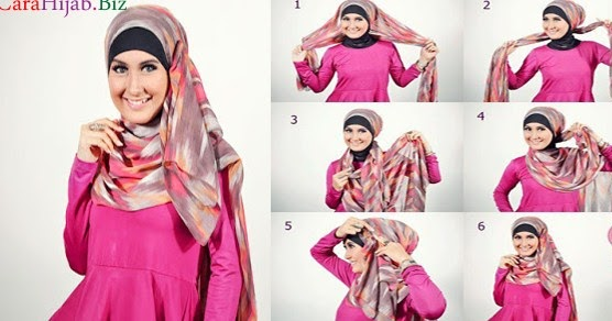 Tutorial Hijab Modern Pashmina untuk Lebaran