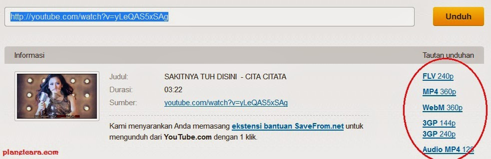 Download Youtube di Blackberry