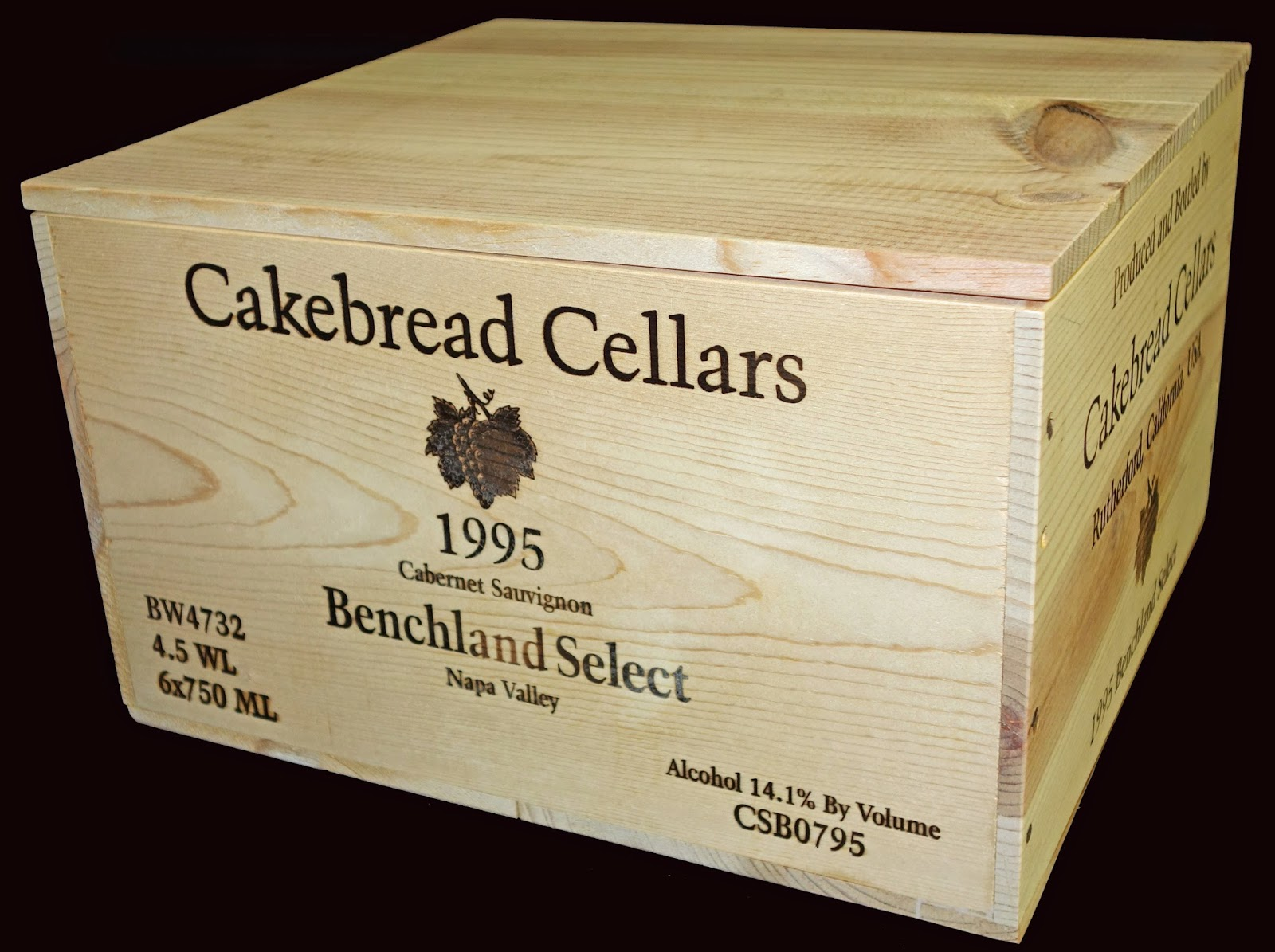 The Cakebread Cellars Wine Box & Wooden Wine Boxes u0026 Wine Crates: The Cakebread Cellars Wine Box