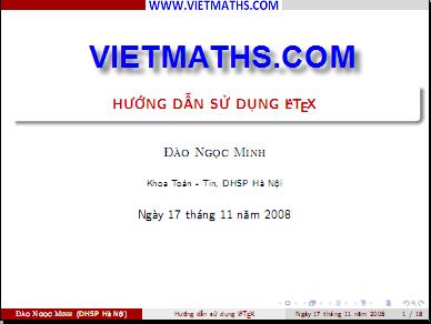tai lieu huong dan su dung latex cua thay dao ngoc minh dai hoc su pham ha noi,
