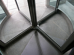 080409 revolving door-1 By Dan4th via Flickr and a Creative Commons license