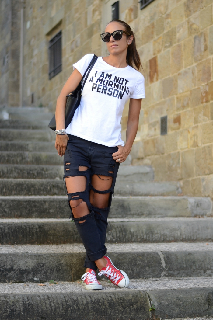 jeans neri vita alta