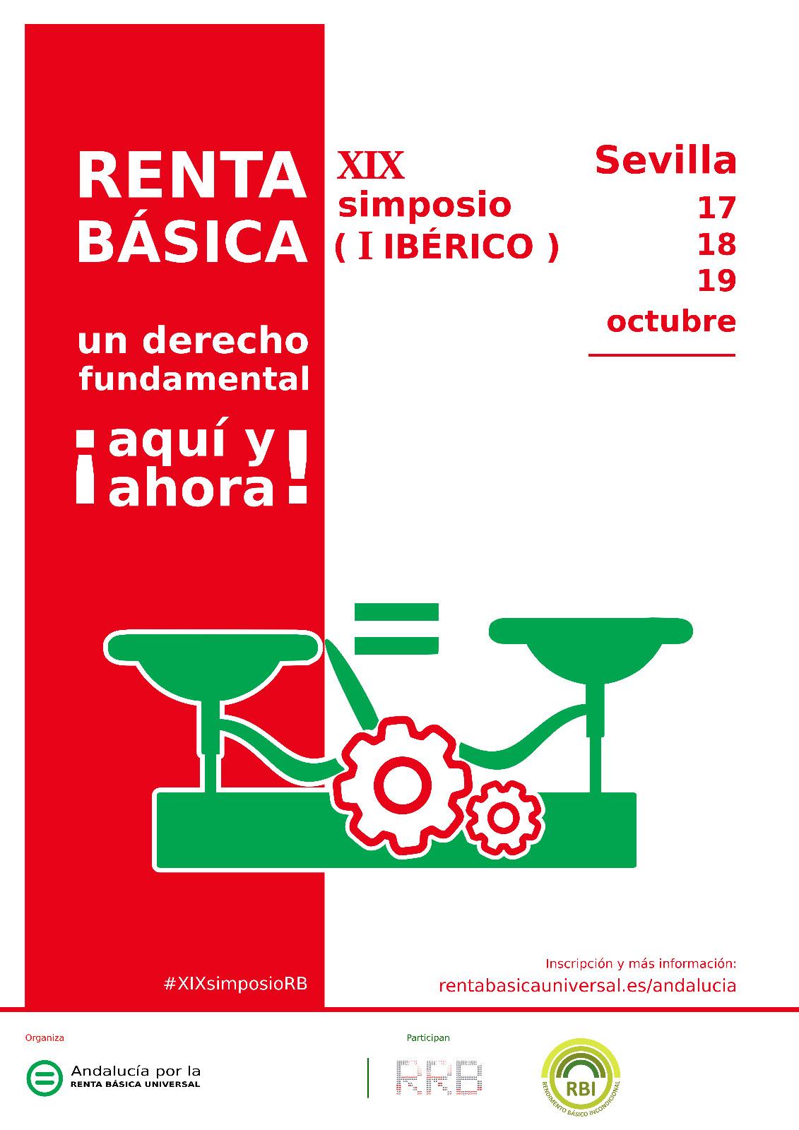 XIX SIMPOSIO (I IBÉRICO) RENTA BÁSICA un derecho fundamental ¡aquí y ahora!.