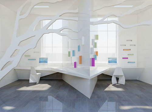 Some future office structures for Office design of the future
