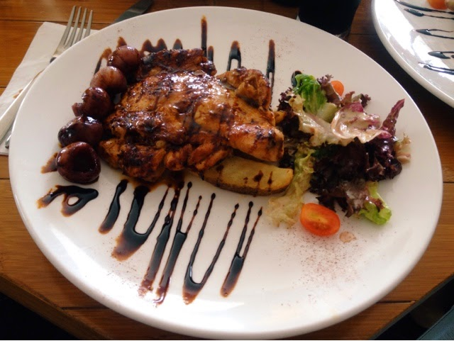Chicken Chop with Red Wine Longan; Yew's Cafe & Bistro @ Senibong Cove, Johor Bahru, Malaysia