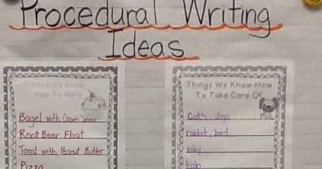 procedural writing topics