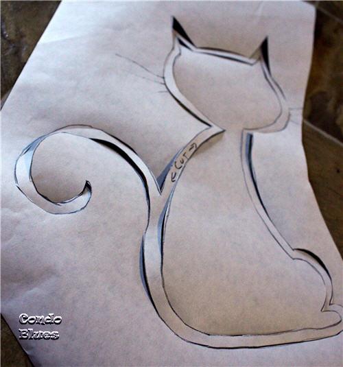 freezer paper stencil