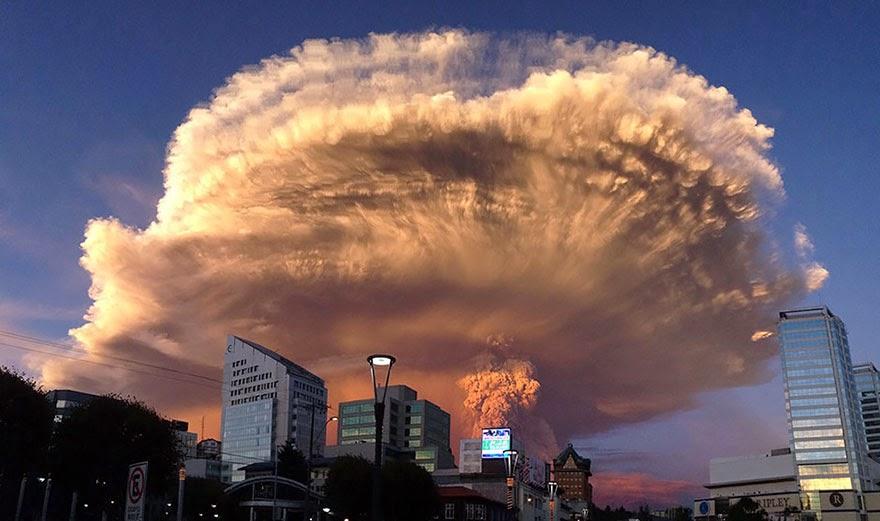 Las fotos más impactantes de la erupción del volcán de Chile
