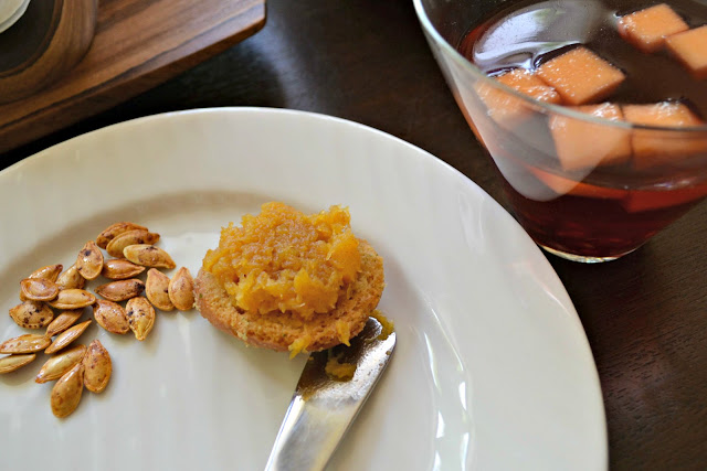 Fall sangria, toasted pumpkin seeds and spiked butternut squash spread with Arbor Mist #CBias