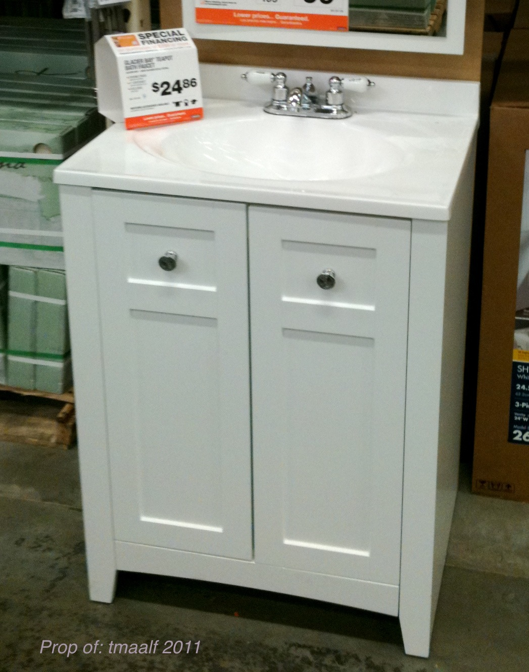 Two Men And A Little Farm: NEW SHANNON BATHROOM VANITY SINK COMBO