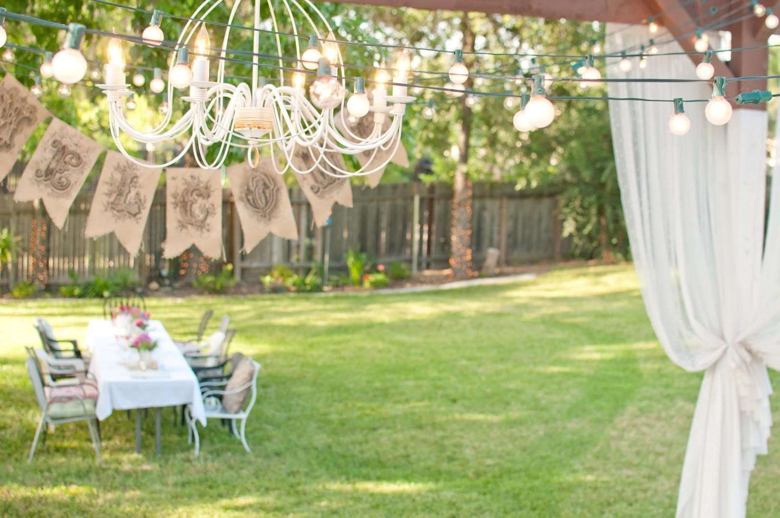 domestic fashionista summer backyard birthday party