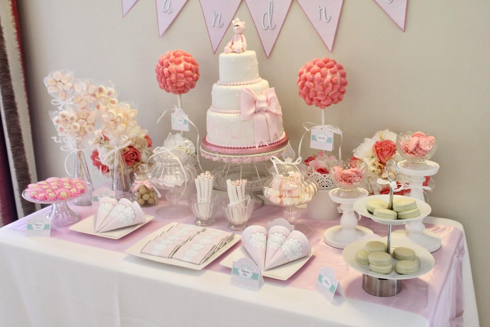 La mami primeriza ideas para bautizo originales - Mesas dulces para ninas ...