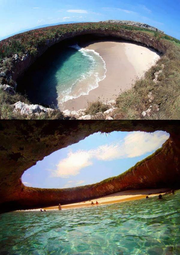 Praia escondida das Ilhas Marieta - México - Marieta Islands
