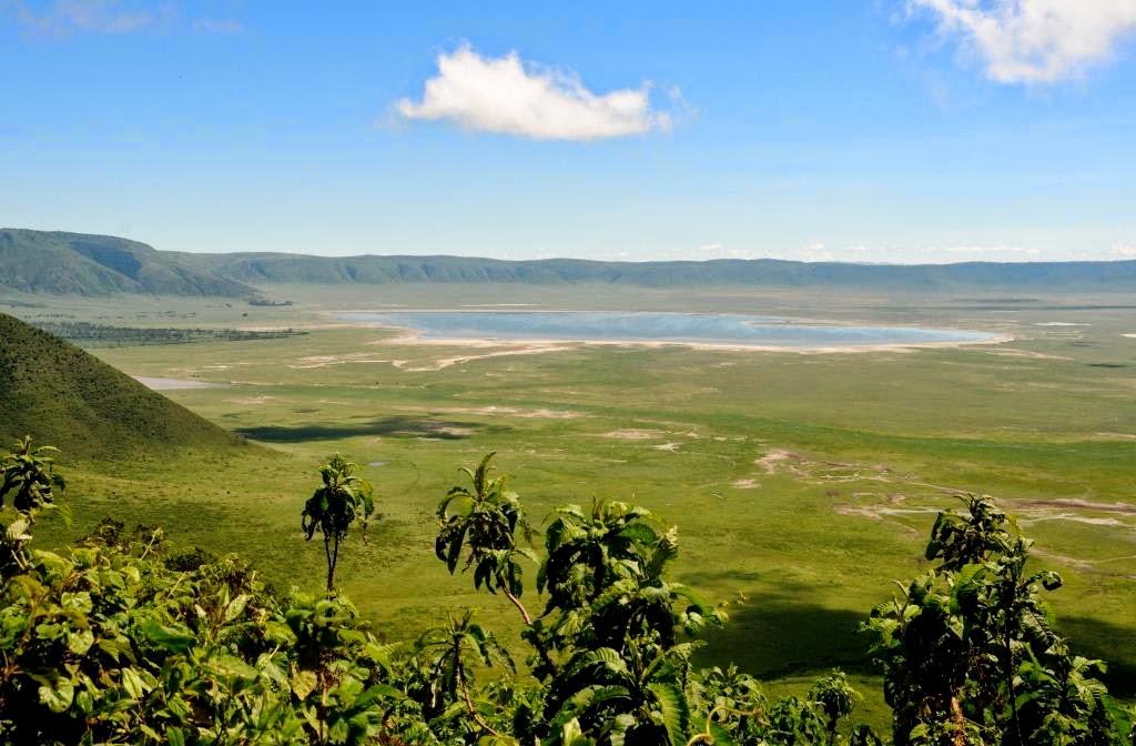 Ngorongoro Crater, Ngorongoro Krater, Tanzania, Afrika, Oost-Afrika, wildlife, prachtig landschap, Afrikaanse vulkaankrater,