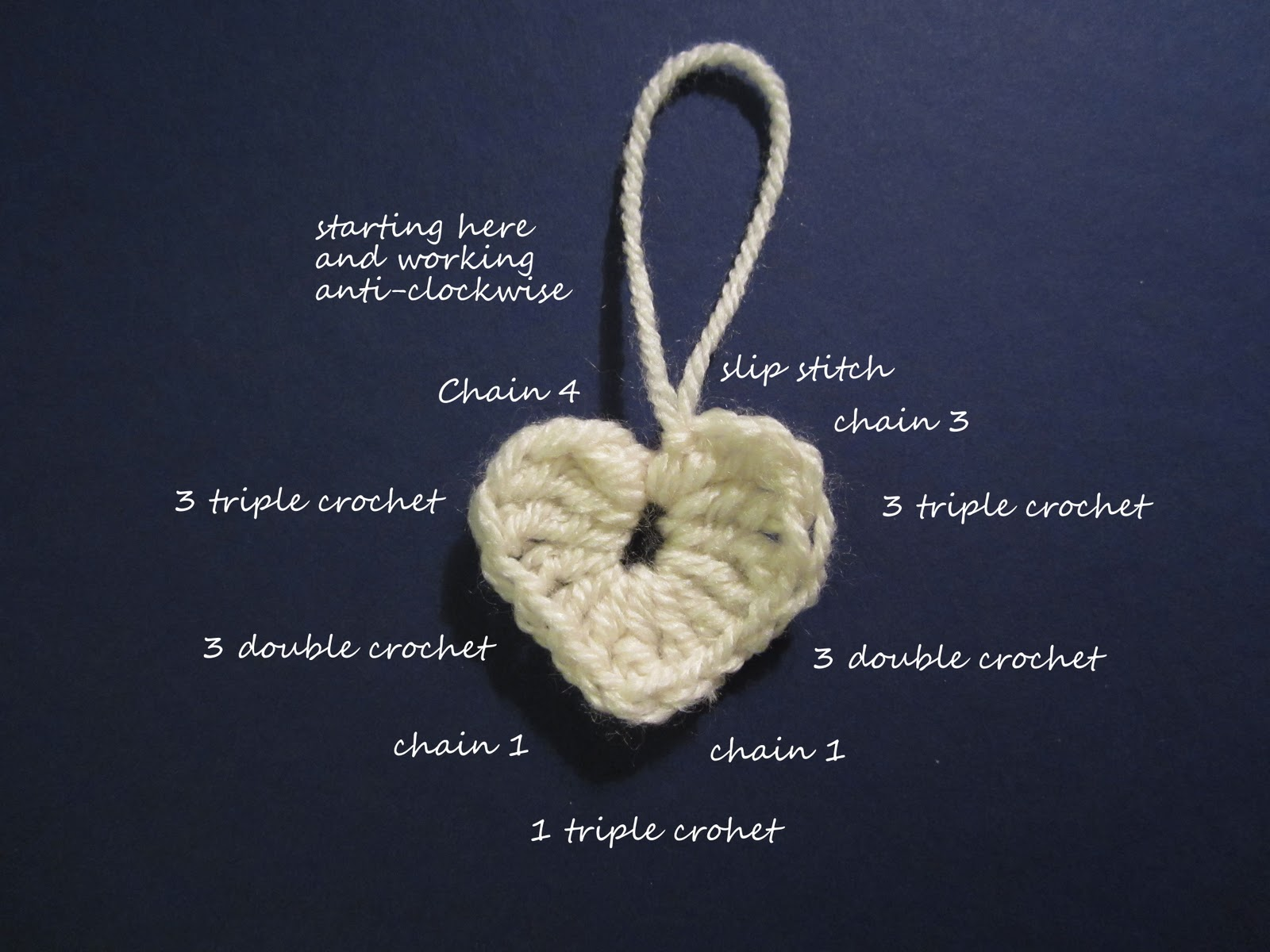 Crochet Hearts Learn To Crafty Weekend Craft Projects Heart Shape Pattern Diagram Knitted Tutorial