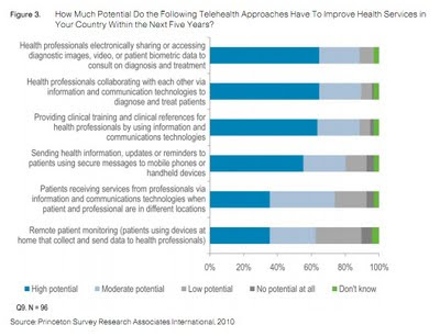 How Much Potential Do the Following Telehealth Approaches Have To Improve Health Services in  Your Country Within the Next Five Years? Princeton Survey Research Associates International 2010 cisco