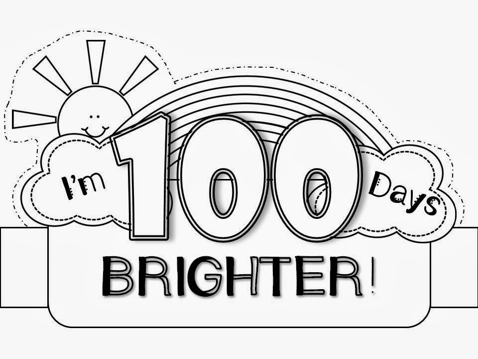 My Kindergarten Obsession 100th Day Hat Freebie 100th Day Of School Coloring Pages