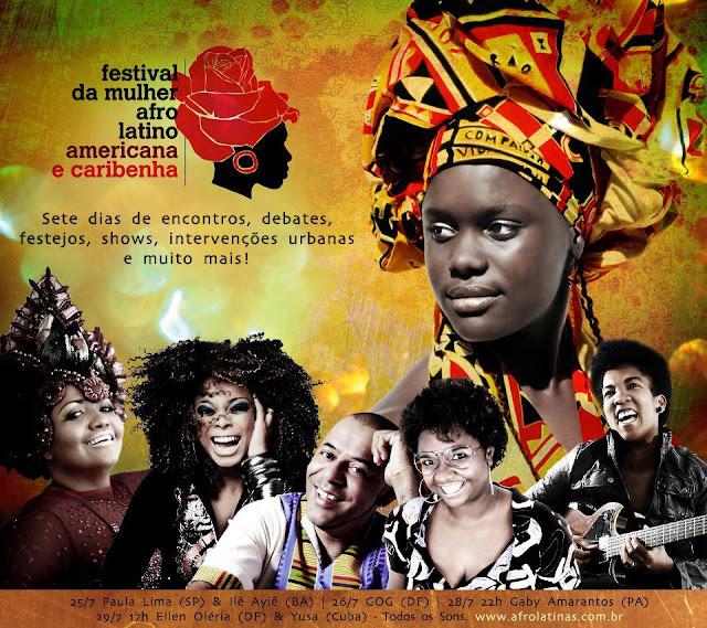 Festival da Mulher afro latno americana e caribenha