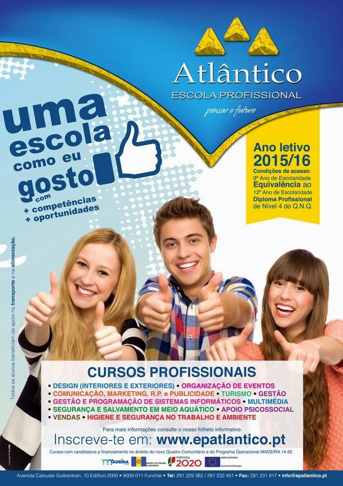 Cursos profissionais no Funchal (Ano Letivo 2015 / 2016)