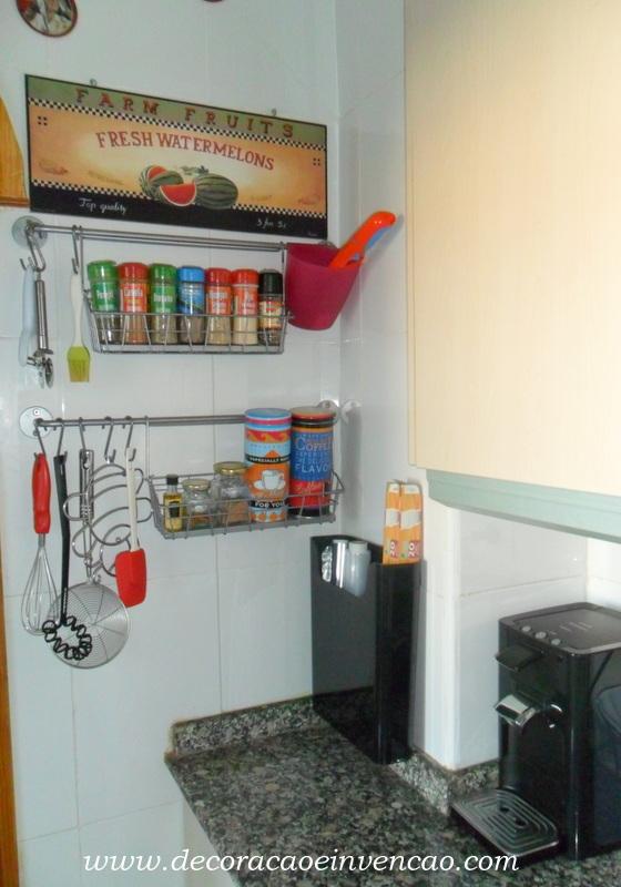 Minha Cozinha,um pouco de tempero e organização - *Decoração e