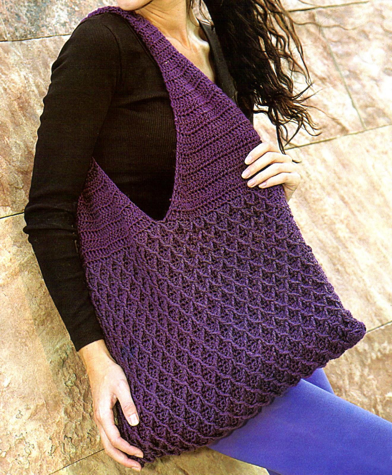 Tejidos artesanales en crochet bolso con formas - Bolsa para guardar agujas de tejer ...
