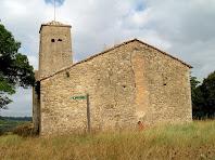 La façana de llevant i el campanar de Sant Julià d'Úixols