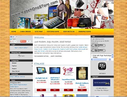 Situs Toko online jual modem baju Muslim obat herbal